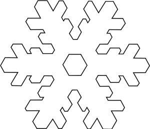 Hópehely papírból 14