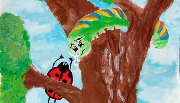 A fába szorult hernyó
