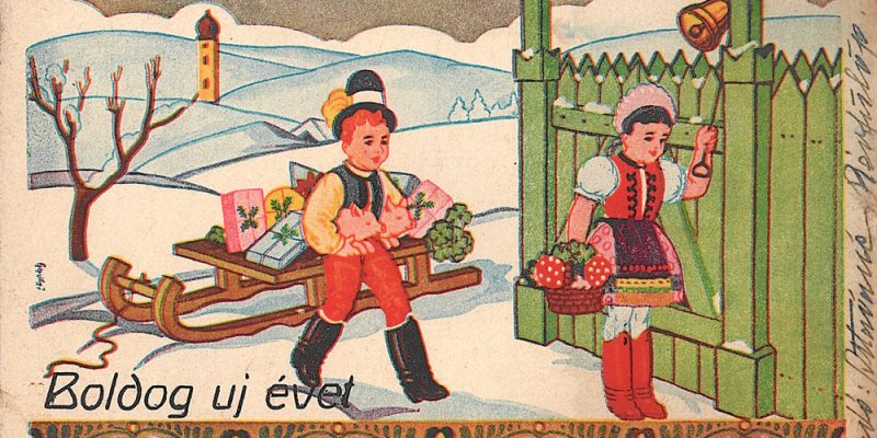 Boldog újévet! (régi képeslap)